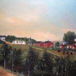Ekholmen Säteri tavla målad 1887